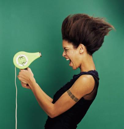 black-woman-blow-dryer