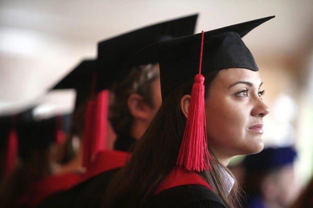 Celebration of the University Bonn: Graduates of the medical faculty.