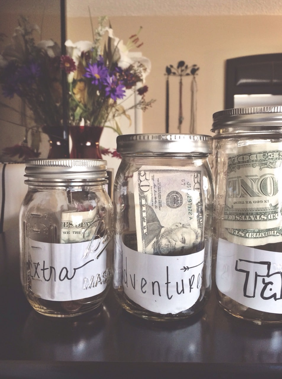 avoid bankruptcy by saving with money jars