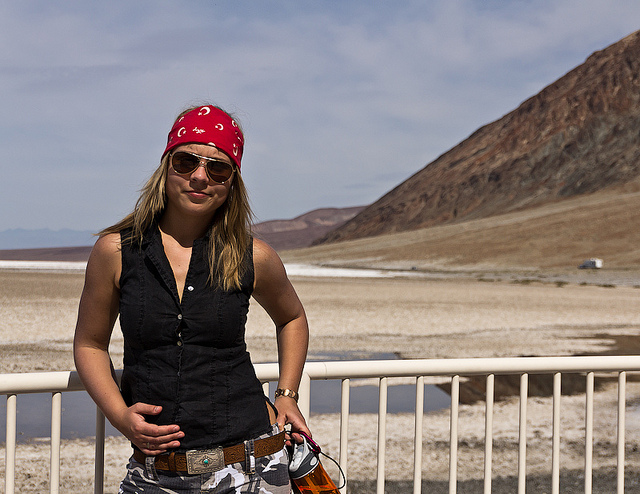 Female traveler