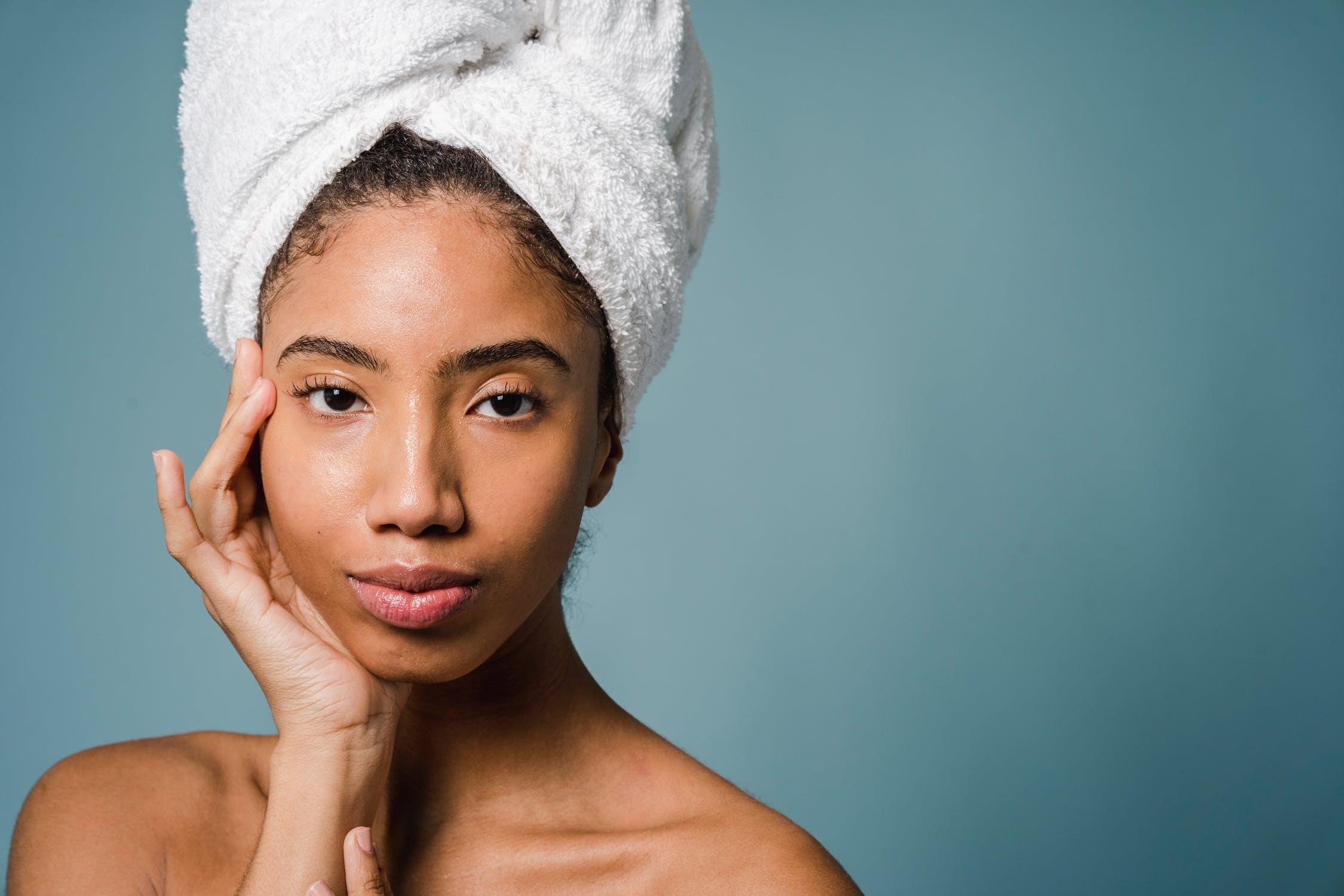 Black woman skincare