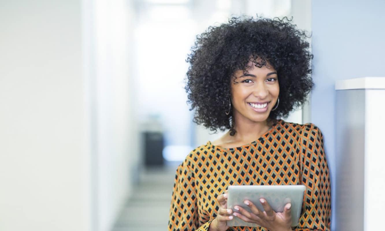 Black woman at work