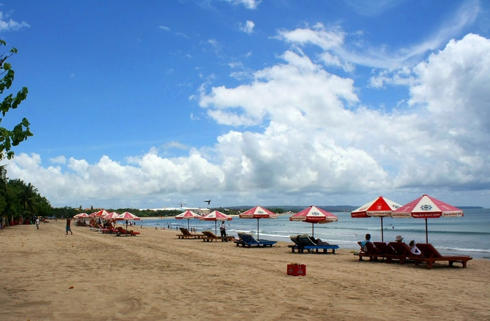 Kuta Bali Sand Pantai Indonesia Destination Beach