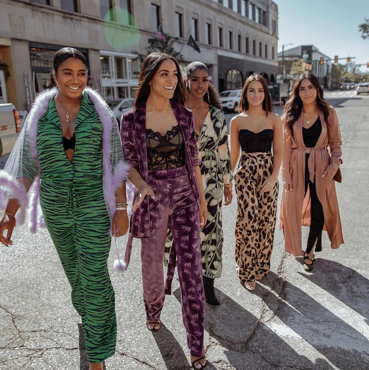 group of stylish ambitious friends