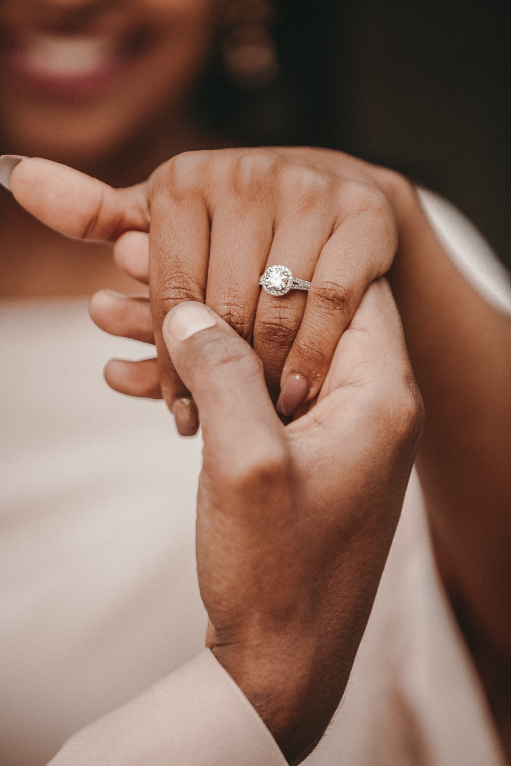 african american bride engagement ring