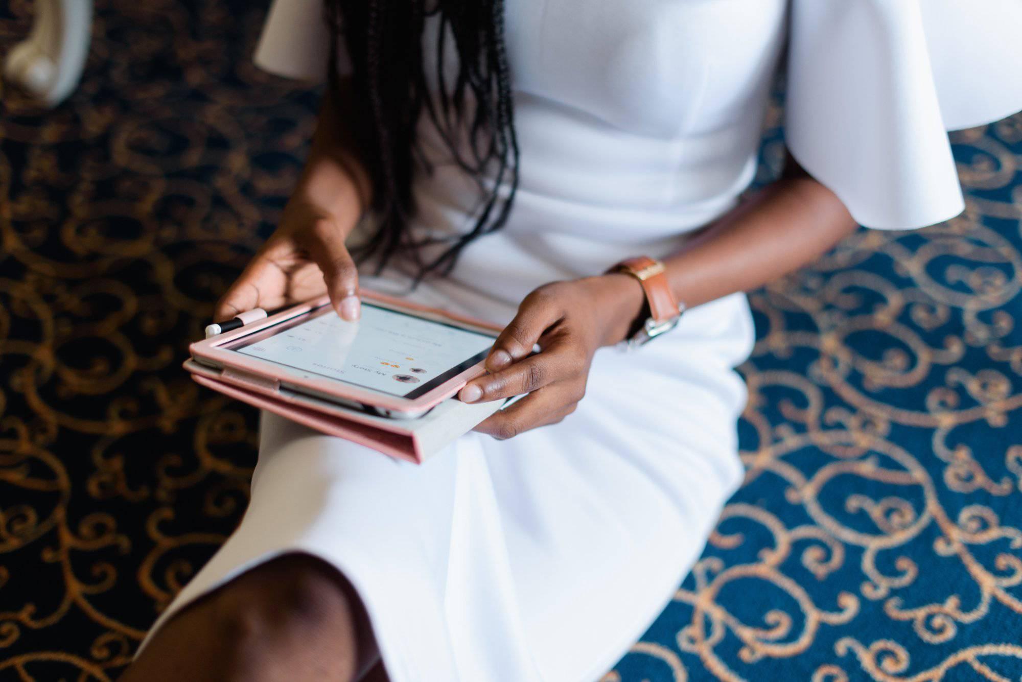 black-career-woman-wearing-white-dress