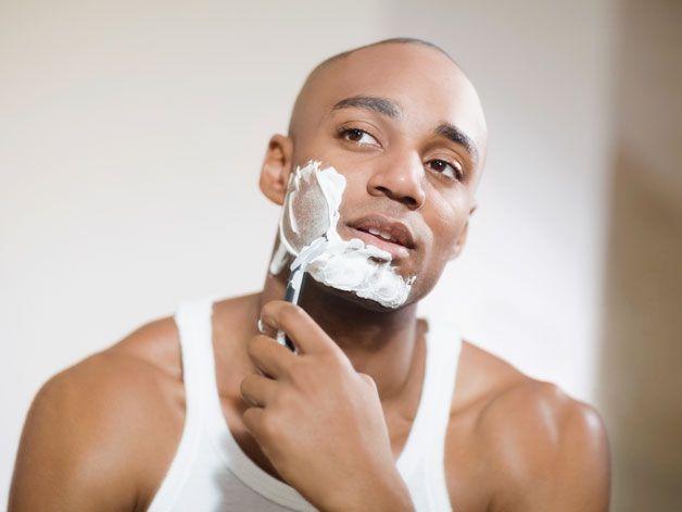 black-man-shaving