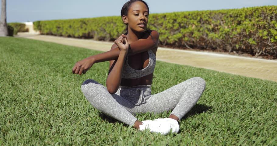 black-woman-stretching