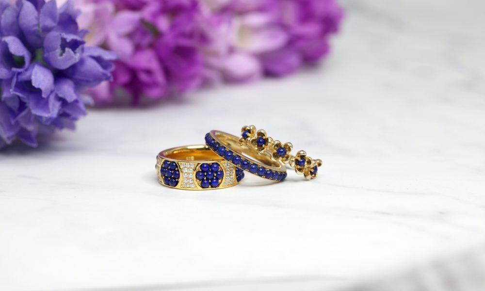 blue gemstone jewelry wedding ring