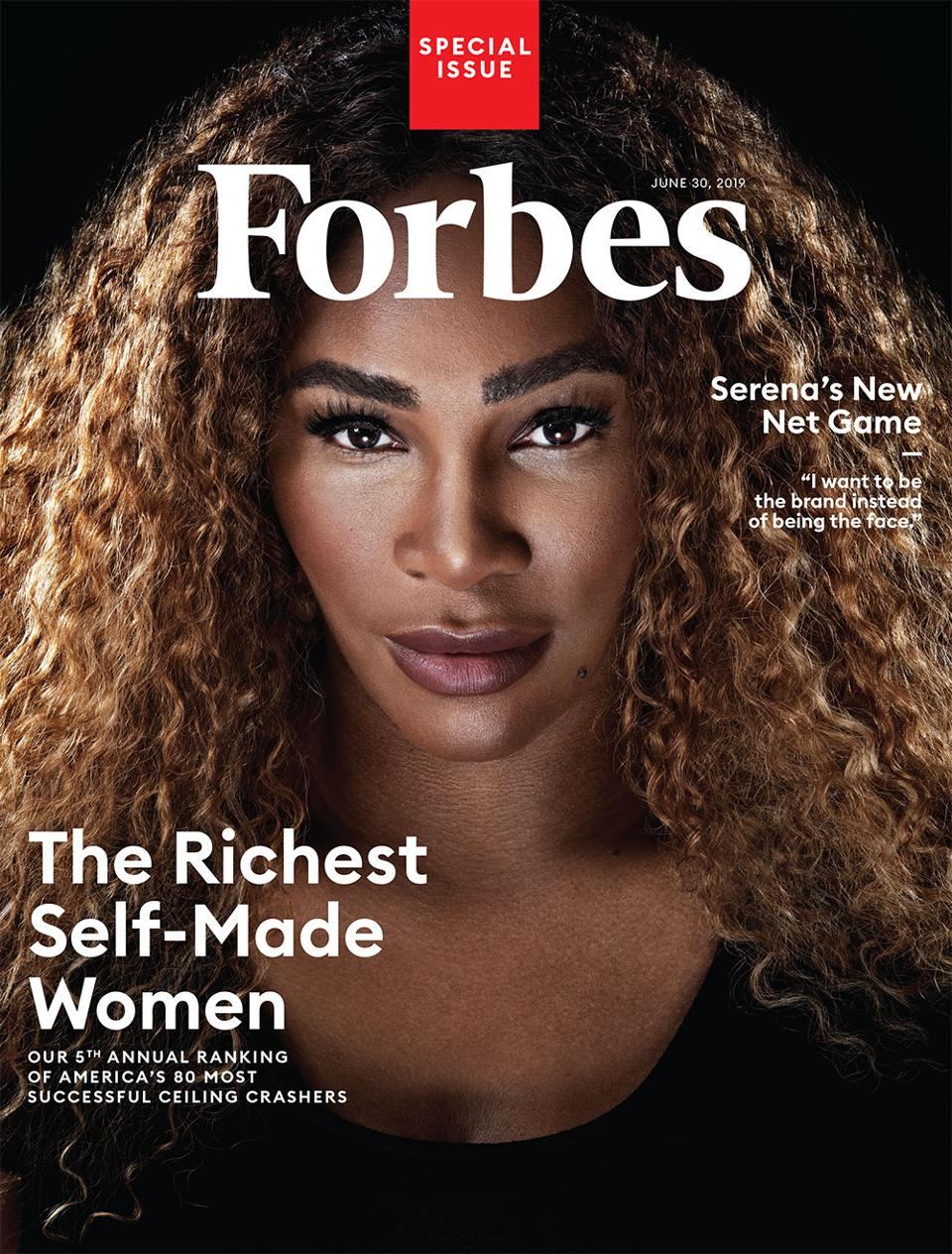 Forbes magazine cover self-made women issue