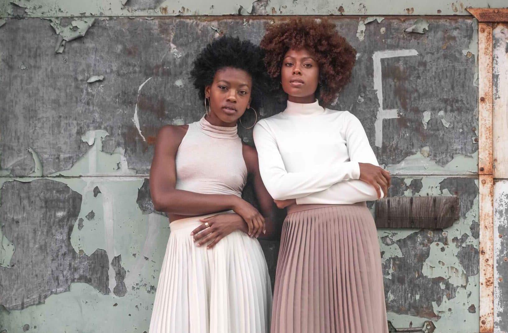 Black women standing together