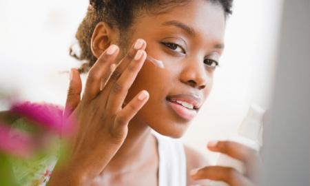 pimples black women clean face
