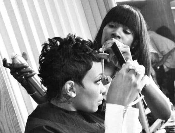 Ursula styling singer Monica Brown. // via IG @ursulastephen